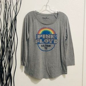 Lucky Brand Pink Floyd 72 US Tour Knit Shirt M